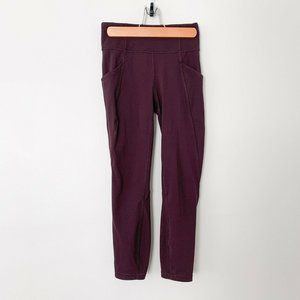 "Lululemon | Time To Sweat Crop 23"" Plum Shadow"